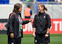 Erica Walsh, Marcia McDermott. The USWNT defeated Mexico, 1-0, during the game at Red Bull Arena in Harrison, NJ.