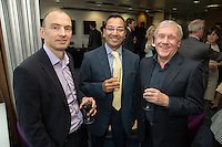 Saiful Khan of Potter Clarkson (centre) is pictured with Peter Watts (left) and Alan Smith, both of Archimedes