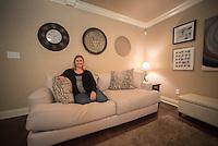 NWA Democrat-Gazette/J.T. WAMPLER  Tara Dryer Tuesday Oct. 25, 2016 in the living room of her Bella Vista home.