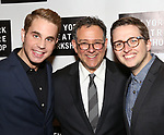 Ben Platt, Michael Greif and Will Roland attends New York Theatre Workshop's 2017 Spring Gala at the Edison Ballroom on May 15, 2017 in New York City.