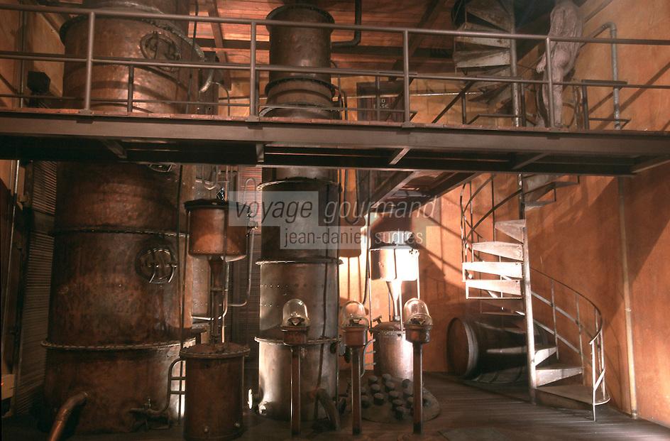 "Cuba/La Havane: ""Muséo de Ron"" Musée du rhum Calle San Pedro - La distillerie"