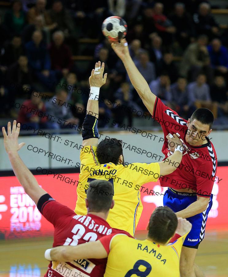 Rukomet-Handball<br /> Srbija v Rumunija-Prijateljski mec friendly match<br /> Zarko Sesum (R)<br /> Beograd, 28.12.2015.<br /> foto: Srdjan Stevanovic/Starsportphoto&copy;
