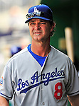 25 April 2010: Los Angeles Dodgers' batting coach and former New York Yankee first baseman Don Mattingly walks in the dugout during a game against the Washington Nationals at Nationals Park in Washington, DC. The Nationals shut out the Dodgers 1-0 to take the rubber match of their 3-game series. Mandatory Credit: Ed Wolfstein Photo