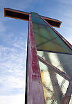 WATERBURY, CT. 08 January 2008-010408SV07-- The Holy Land Cross will be dismantled and rebuilt with new lighting.<br /> Steven Valenti Republican-American