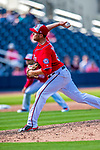 28 February 2017: Washington Nationals pitcher Kyle McGowin on the mound during the Spring Training inaugural game against the Houston Astros at the Ballpark of the Palm Beaches in West Palm Beach, Florida. The Nationals defeated the Astros 4-3 in Grapefruit League play. Mandatory Credit: Ed Wolfstein Photo *** RAW (NEF) Image File Available ***