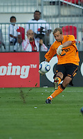 July 21, 2010  Bolton Wanderer Jussi Jaaskelainen No. 22 in action during the Carlsberg Cup match between the Bolton Wanderers FC and Toronto FC at BMO Field in Toronto..Th Bolton Wanderrs FC won 4-3 on penalty kicks.