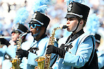 17 September 2016: UNC marching band. The University of North Carolina Tar Heels hosted the James Madison University Dukes at Kenan Memorial Stadium in Chapel Hill, North Carolina in a 2016 NCAA Division I College Football game.