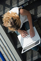 Teenager lap Hi Tech Lifestyle Communicating, Email