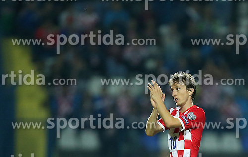 13.10.2014, Stadion Gradski vrt, Osijek, CRO, UEFA Euro Qualifikation, Kroatien vs Aserbaidschan, Gruppe H, im Bild Luka Modric // during the UEFA EURO 2016 Qualifier group H match between Croatia and Azerbaijan at the Stadion Gradski vrt in Osijek, Croatia on 2014/10/13. EXPA Pictures &copy; 2014, PhotoCredit: EXPA/ Pixsell/ Igor Kralj<br /> <br /> *****ATTENTION - for AUT, SLO, SUI, SWE, ITA, FRA only*****