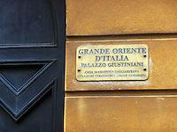 GIU 2010 Sardegna. Cagliari, sede della loggia Massonica Oriente d'Italia.JUN 2010 Sardinia, Cagliari, seat of the Masonic lodge Oriente d'Italia