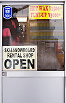 A ski and snowboard rental shop in Niseko, Japan on Feb. 7 2010. In addition to 57 runs, 38 lifts and gondolas and 47 km in groomed slopes, Niseko offers first timer slopes, half-pipes, quarter pipes, table tops, mogul fields and tree runs.