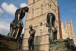 Sculpture outside Belfort - Belfry, Ghent, Belgium, Europe