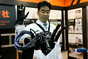 Flexible Sensor Tube on articuled hand during a demonstration at the International Robot Exhibition in Tokyo on November 27, 2009. 200 robot companies and institutes exhibit their latest robot technologies during a four-day exhibition (photo Laurent Benchana/Nippon News).