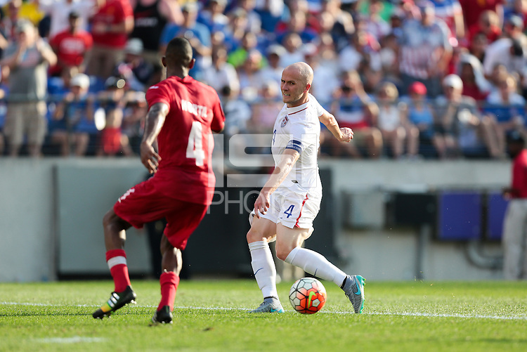 Baltimore, Maryland - Saturday, July 18, 2015: The US Men's National team take a 6-0 lead over Cuba in the second half during quarter final play in the 2015 Gold Cup at M&T Bank Stadium.