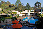 Africa, Kenya, Nairobi. The pool and gardens at The Tribe Hotel.