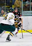 26 November 2010: Northeastern University Huskies' forward Cody Ferriero, a Freshman from Essex, MA, in action against the University of Vermont Catamounts at Gutterson Fieldhouse in Burlington, Vermont. The Huskies came back from a 2-0 deficit to earn a 2-2 tie against the Catamounts. Mandatory Credit: Ed Wolfstein Photo