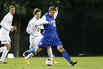 25 October 2013: Duke's Nick Palodichuk (11) and Wake Forest's Hunter Bandy (20). The Duke University Blue Devils hosted the Wake Forest University Demon Deacons at Koskinen Stadium in Durham, NC in a 2013 NCAA Division I Men's Soccer match. The game ended in a 2-2 tie after two overtimes.