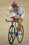 Canadian national team cyclist Mark Breton of Quebec City at cycling training at the Laoshan Velodrome prior to the Paralympic Games in Beijing, Sep., 3, 2008. Breton is a right arm amputee.  Photo by Mike Ridewood/CPC