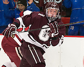 Nathan Sinz (Colgate - 24) - The Harvard University Crimson defeated the Colgate University Raiders 4-1 (EN) on Friday, February 15, 2013, at the Bright Hockey Center in Cambridge, Massachusetts.