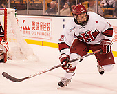 Jake Horton (Harvard - 19) - The Harvard University Crimson defeated the Northeastern University Huskies 4-3 in the opening game of the 2017 Beanpot on Monday, February 6, 2017, at TD Garden in Boston, Massachusetts.