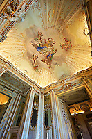 The Cabinet of The Stuccos. . The Kings of Naples Royal Palace of Caserta, Italy. A UNESCO World Heritage Site