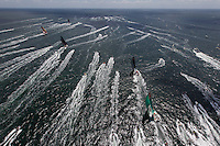FRANCE, Lorient. 1st July 2012. Volvo Ocean Race, Start Leg 9 Lorient-Galway. Race boats and spectator fleet.