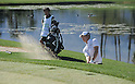 (R-L) Ryo Ishikawa (JPN), Hiroyuki Kato,.JANUARY 18, 2013 - Golf :.Ryo Ishikawa of Japan hits a bunker shot as his caddie Hiroyuki Kato looks on during the second round of the Humana Challenge at the Arnold Palmer Private Course at PGA West in La Quinta, California, United States. (Photo by AFLO)