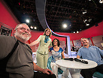 My live TV interview on the Zika show, a live TV variety show watched each Saturday morning by 25% of the Serbian people during it's production and broadcast  in Belgrade, Serbia<br /> <br /> with Katarina Kostatine, my interpreter, Miloje Milinkovic and Zorica Zec, Larry Angier