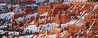 Hoodoo rock formationas at sunrise from Sunrise Point, Bryce Canyon national park, Utah, USA