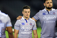 George Ford of Bath Rugby looks dejected after the match. Aviva Premiership match, between Newcastle Falcons and Bath Rugby on January 6, 2017 at Kingston Park in Newcastle upon Tyne, England. Photo by: Patrick Khachfe / Onside Images