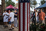People line up for food tents before a campaign rally with Republican Vice Presidential candidate  Rep. Paul Ryan (R-WI) on Saturday, August 18, 2012 in The Villages, FL.