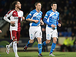 St Johnstone v Rangers&hellip;28.12.16     McDiarmid Park    SPFL<br />Steven Anderson and Joe Shaughnessy make thier way forward for a corner<br />Picture by Graeme Hart.<br />Copyright Perthshire Picture Agency<br />Tel: 01738 623350  Mobile: 07990 594431
