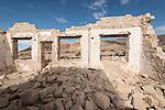 Ghost town of Rhyolite, Nevada<br /> <br /> Overbury Bank ruins