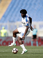 Calcio, Serie A: Roma, stadio Olimpico, 14 aprile 2017.<br /> Atalanta's Franck Kessi&eacute; in action during the Italian Serie A football match between Roma and Atalanta at Rome's Olympic stadium, April 14, 2017.<br /> UPDATE IMAGES PRESS/Isabella Bonotto