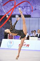 September 25, 2014 - Izmir, Turkey - ANNA RIZATDINOVA of Ukraine performs at 2014 World Championships.