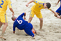 Tomoya Uehara (JPN), Maksym Nazarenko (UKR), SEPTEMBER 4, 2011 - Beach Soccer : FIFA Beach Soccer World Cup Ravenna-Italy 2011 Group D match between Ukraine 4-2 Japan at Stadio del Mare, Marina di Ravenna, Italy, (Photo by Enrico Calderoni/AFLO SPORT) [0391]