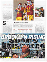 "15 October 2012:  Photo of Matt Leinart and Reggie Bush published page 44 of Sports Illustrated ""Lost Boys of Troy""."