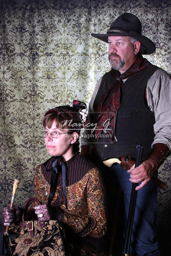 A victorian period couple