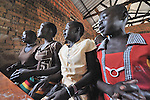 Students sing  during class in the Southern Sudanese village of Mankaro. The school was constructed by the United Methodist Committee on Relief (UMCOR).  Families here are rebuilding their lives after returning from refuge in Uganda in 2006 following the 2005 Comprehensive Peace Agreement between the north and south. . NOTE: In July 2011, Southern Sudan became the independent country of South Sudan