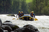 Toesens, Tiroler Oberland, Austria, August 2009. Rafting the Inn river through the Toesner schlucht gorge.Photo by Frits Meyst/Adventure4ever.com