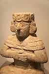 Anthropomorphic figure from Chichen Itza, Gran Museo del Mundo Maya museum in Merida, Yucatan, Mexico      .