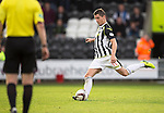 St Mirren v St Johnstone...19.10.13      SPFL<br /> Kenny McLean scores from the penalty spot<br /> Picture by Graeme Hart.<br /> Copyright Perthshire Picture Agency<br /> Tel: 01738 623350  Mobile: 07990 594431