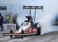 Sep 16, 2016; Concord, NC, USA; NHRA top fuel driver Doug Kalitta during qualifying for the Carolina Nationals at zMax Dragway. Mandatory Credit: Mark J. Rebilas-USA TODAY Sports