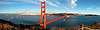Golden Gate Bridge Panoramic, Marin Headlands, California