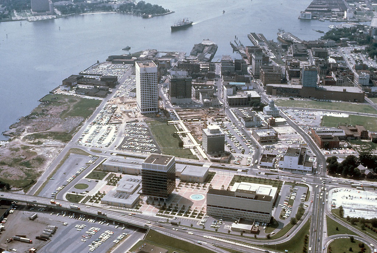 1965 ..Redevelopment.Downtown South (R-9)..LOOKING WEST.CIVIC CENTER IN FOREGROUND...NEG#.NRHA#..
