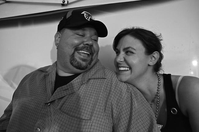 Matt and Jennifer share a laugh at the Bragg Jam Music Festival in Macon, Ga. July 31, 2010.