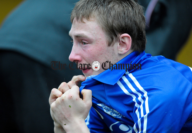 A clearly dissapointed Shane O Leary of Cratloe following the senior county hurling final loss to Newmarket on Fergus at Cusack Park. Photograph by John Kelly.