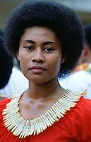 Fijian girl in Fiji, South Pacific