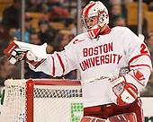 Jake Oettinger (BU - 29) - The Harvard University Crimson defeated the Boston University Terriers 6-3 (EN) to win the 2017 Beanpot on Monday, February 13, 2017, at TD Garden in Boston, Massachusetts.