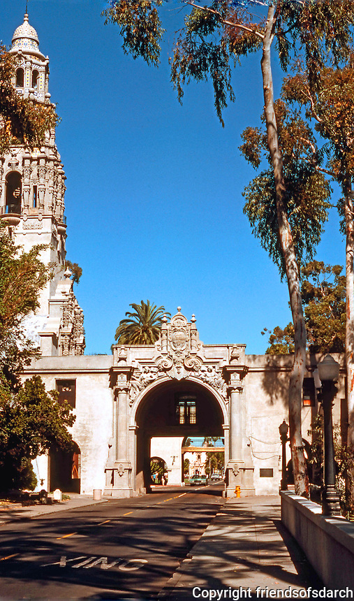 San Diego: Balboa Park. Entrance, Museum of Man. Photo '78.